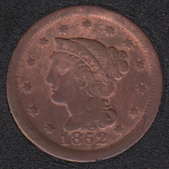 1852 - Liberty Head - Nettoyé - Large Cent