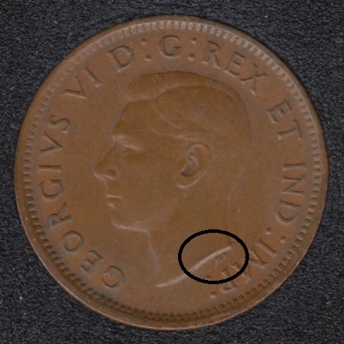 1941 - Break Bust to HP - Canada Cent