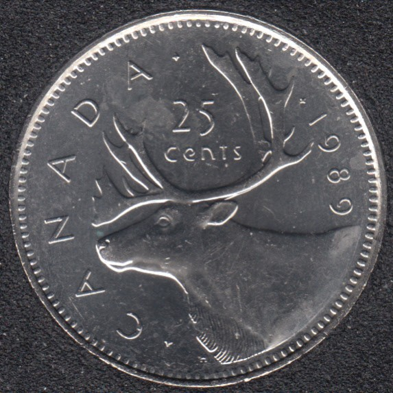 1989 - B.Unc - Canada 25 Cents