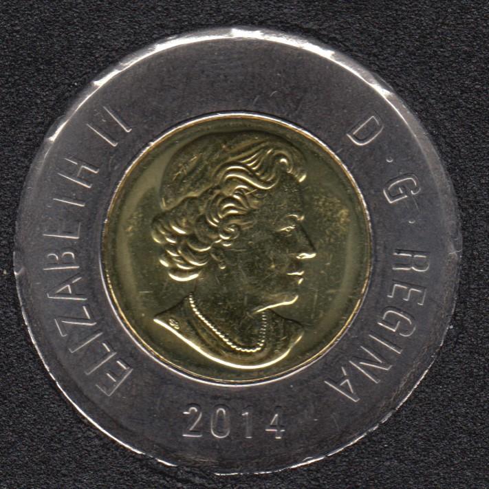 2014 - B.Unc - Canada 2 Dollars