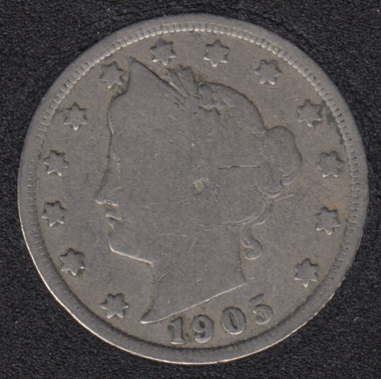 1905 - Liberty Head - 5 Cents