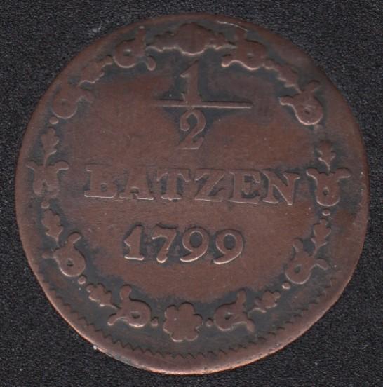 1799 - 1/2 Batzen - Switzerland