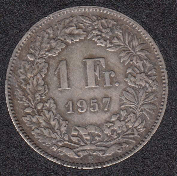 1957 B - 1 Franc - Switzerland
