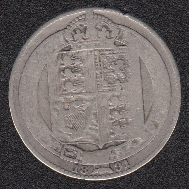 1891 - Shilling - Grande Bretagne