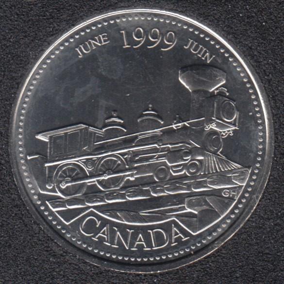 1999 - #6 B.Unc - June - Canada 25 Cents