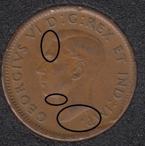 1945 - Double Head - Canada Cent