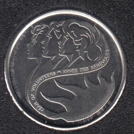 2001 P - B.Unc - Bénévoles - Canada 10 Cents