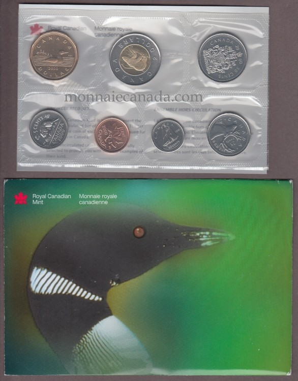 2000 W - BRILLIANT UNCIRCULATED SET