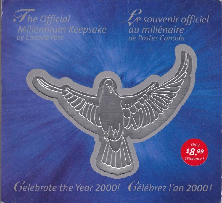 1999-2000 Canada Post - Official Millenium Keepsake Medal and Stamp Set!