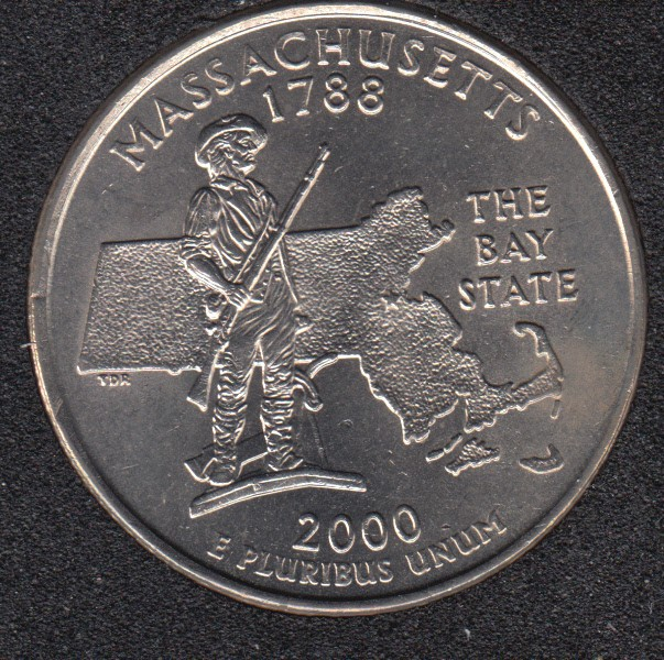 2000 P - Massachusetts - 25 Cents