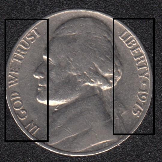 1975 - Double Observe - Jefferson - 5 Cents