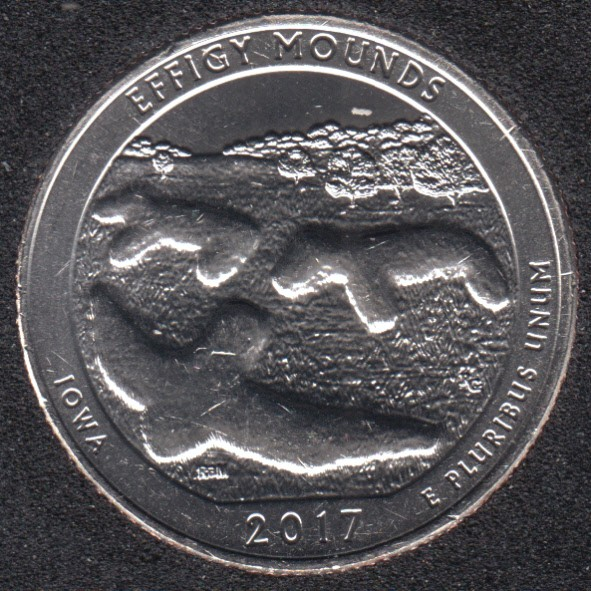 2017 D - Effigy Mounds - 25 Cents