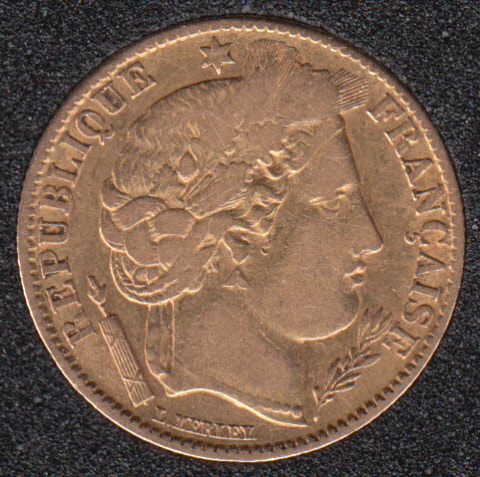 France 1851 A - 10 Francs Gold - 3.23 Gram - 0.900 Gold - 0.0933oz