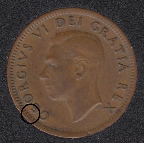 1951 - Break E to Rim - Canada Cent