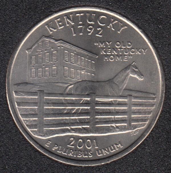 2001 P - Kentucky - 25 Cents