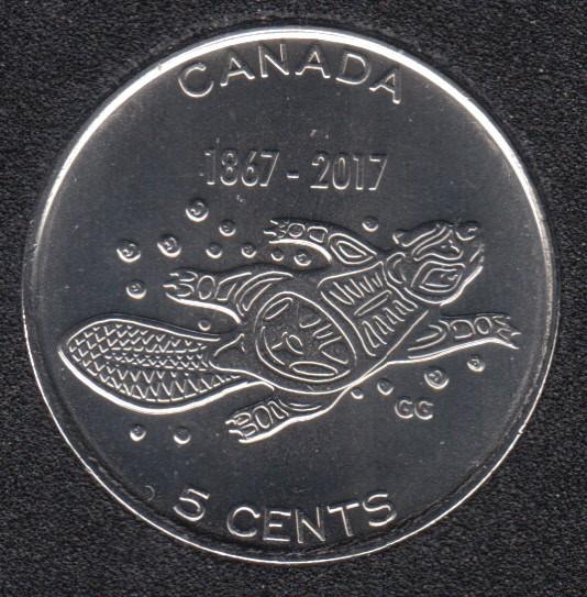2017 - B.Unc - Traditions Vivantes - Canada 5 Cents