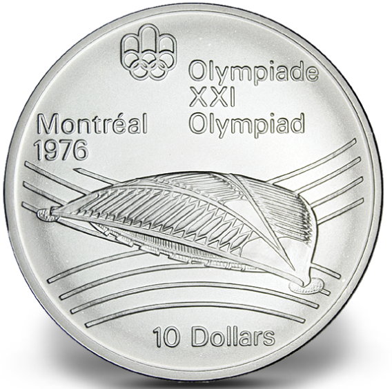 1976 - #27 - $10 - Sterling Silver Coin, Montreal Summer Olympic Games, Olympic Velodrome