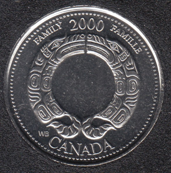 2000 - #8 B.Unc - Famille - Canada 25 Cents