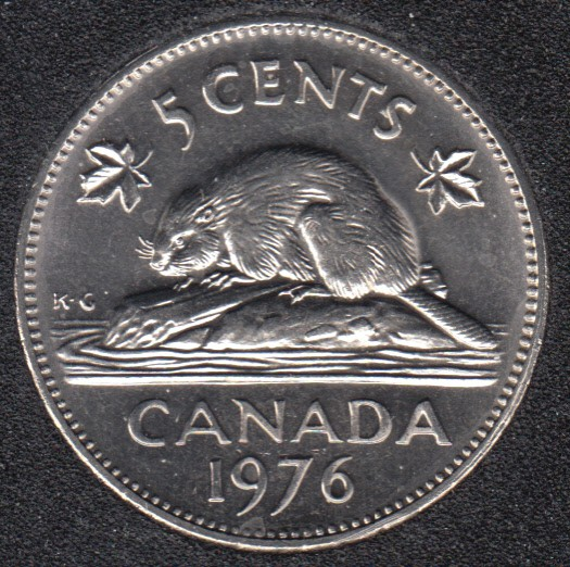1976 - B.Unc - Canada 5 Cents