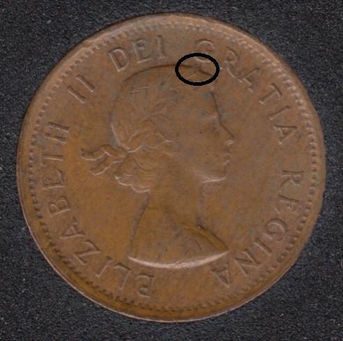 1963 - Bug on Head - Canada Cent