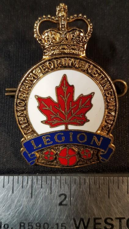 #132 Royal Canadian Legion Veterans Pins