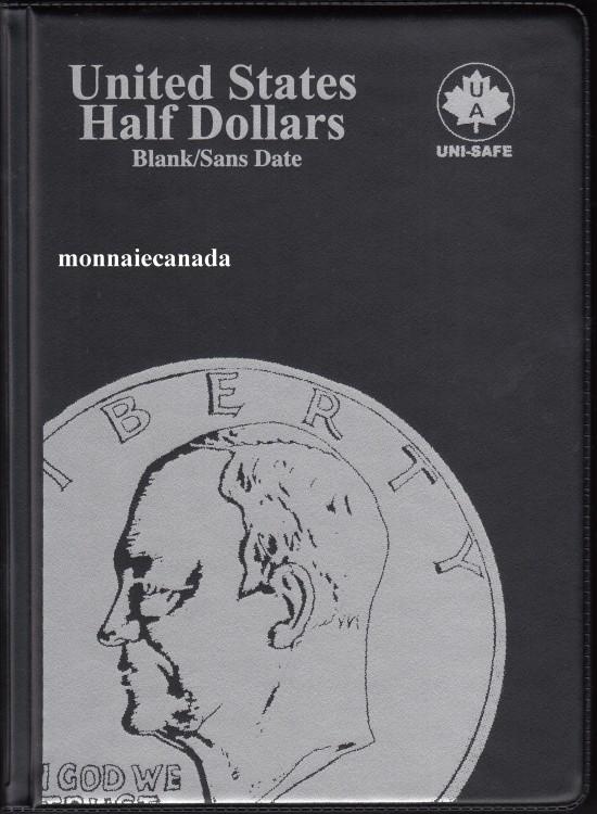 US Coins Album 50 Cents - Blank