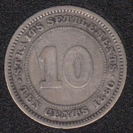 1880 - 10 Cents - Straits Settlements