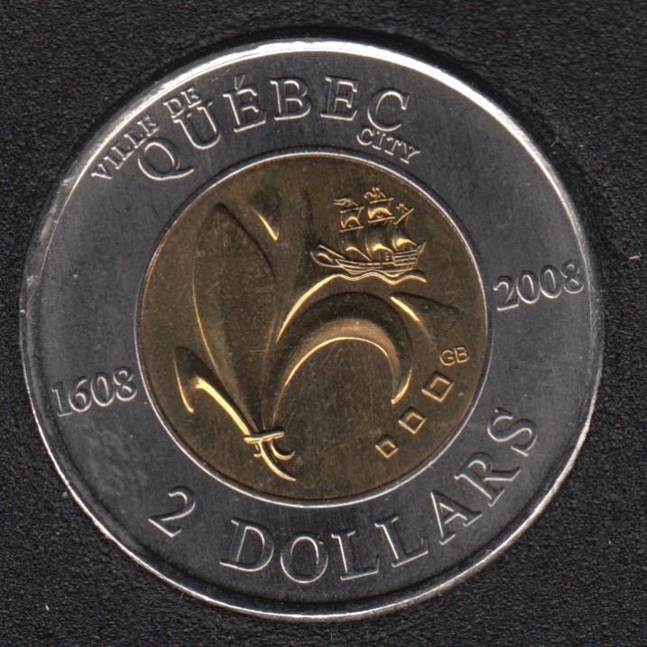 2008 - B.Unc - Quebec - Canada 2 Dollars