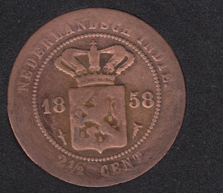 1858 - 2 1/2 Cent - Netherlands - East-Indies - Kingdom of Netherlands