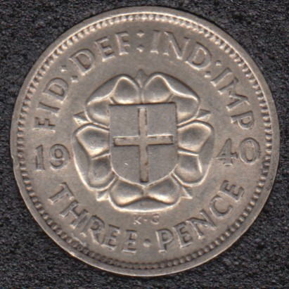 1940 - 3 Pence - Great Britain