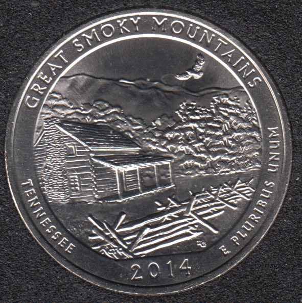 2014 S - Great Smoky Mountains - 25 Cents