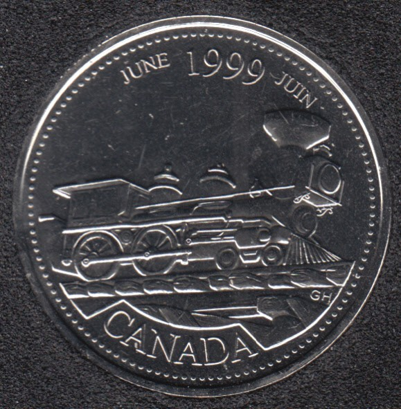1999 - #6 NBU - June - Canada 25 Cents