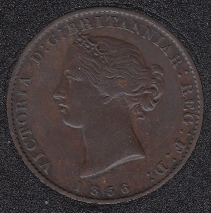 N.S. 1856 Victoria Mayflower Coinage - Half Penny Token - NS-5A1