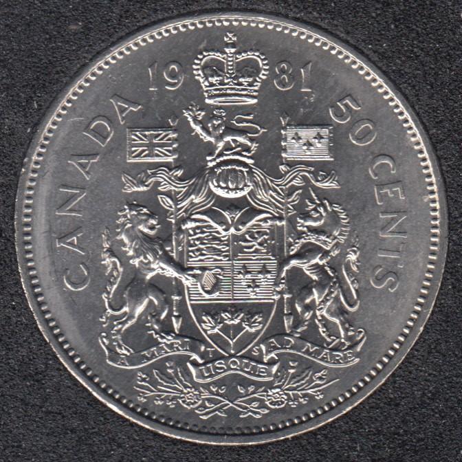 1981 - B.Unc - Canada 50 Cents