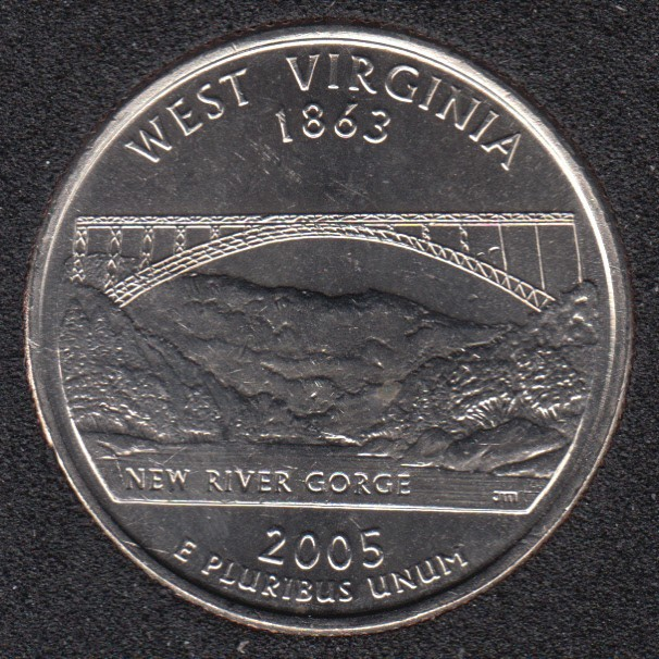 2005 D - B.Unc - West Virginia - 25 Cents