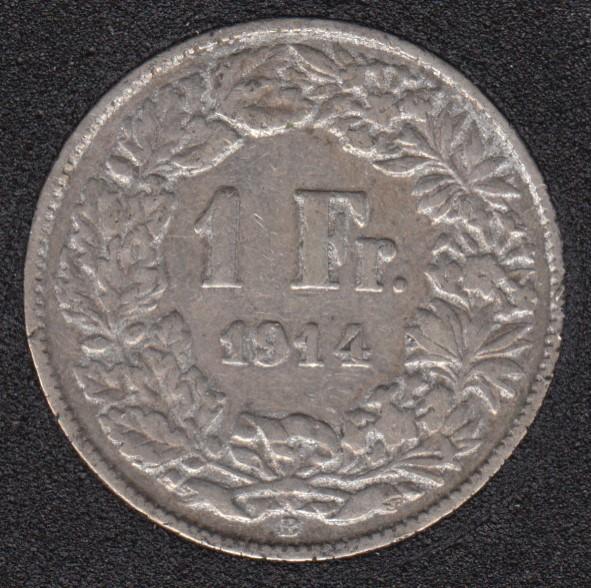 1914 B - 1 Franc - Switzerland