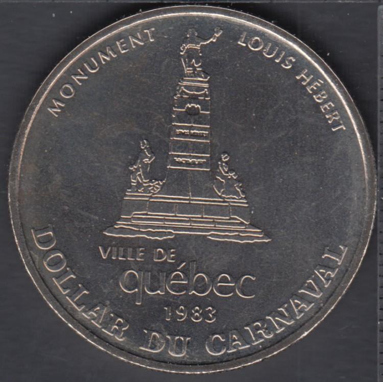 Quebec - 1983 Carnival of Quebec - Eff. 1974 / Monument Louis Hebert - Trade Dollar