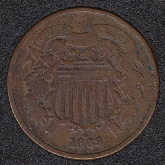 1869 - Shield - Two Cents
