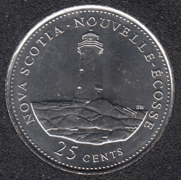 1992 - #9 B.Unc - Nova Scotia - Canada 25 Cents