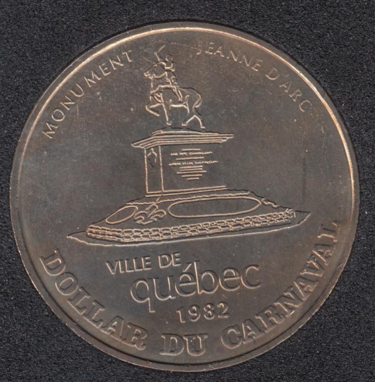 Quebec - 1982 Carnival of Quebec - Eff. 1968 / Monument Jeanne d'Arc - Trade Dollar