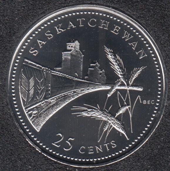 1992 - #911 NBU - Saskatchewan - Canada 25 Cents