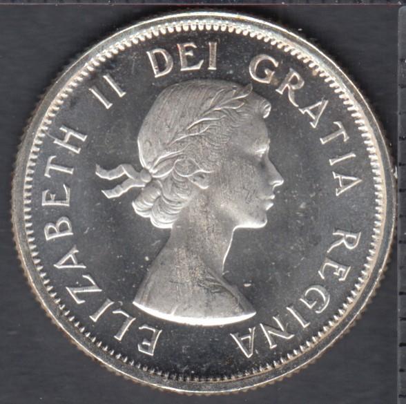 1964 - Proof Like - Heavy Cameo - Canada 25 Cents