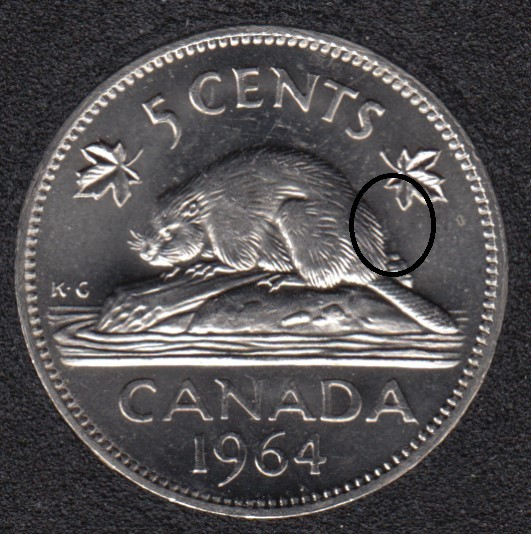 1964 - Die Clask- Canada 5 Cents