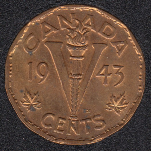 1943 - Tombac - B.Unc - Stained - Canada 5 Cents