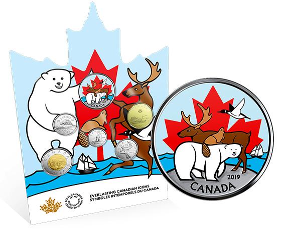 2019 - Ensemble de pièces de circulation canadiennes - Symboles intemporels du Canada