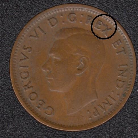 1946 - Break E to X - Canada Cent