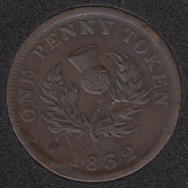 N.S. 1832 Penny Token - VF - NS-2B1