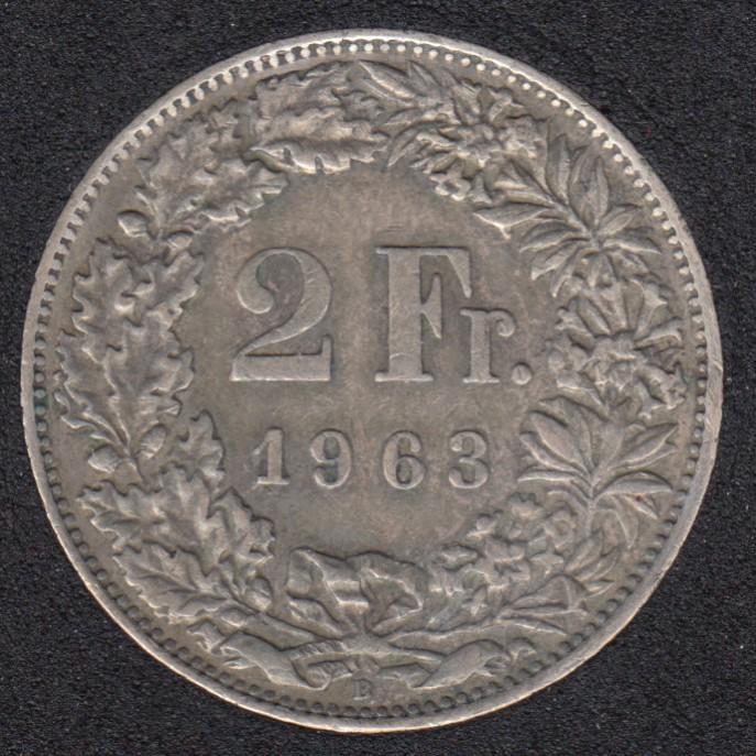 1962 B - 2 Francs - Suisse