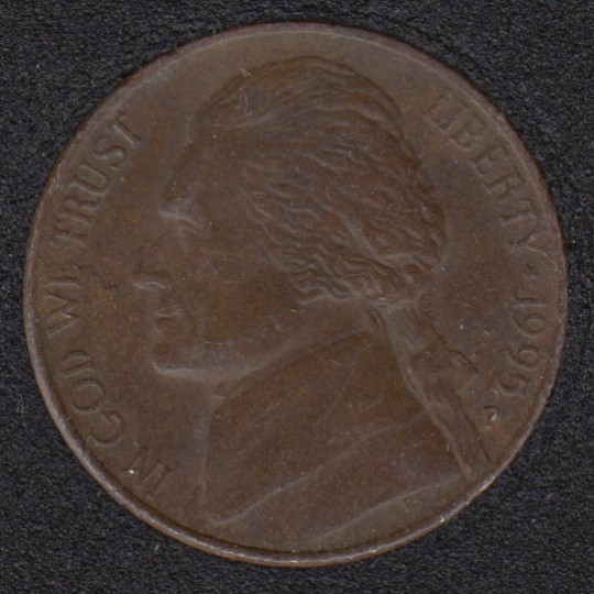 1995 D - Brown ? - Jefferson - 5 Cents
