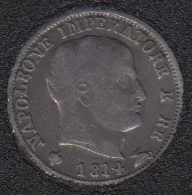 1814 M - 5 Soldi - Kingdom of Napoleon - Silver - Italia